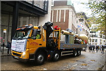TQ3281 : View of the Golden Lane Estate float in the Lord Mayor's Parade in Gresham Street by Robert Lamb