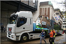 TQ3281 : View of the Hong Kong float in the Lord Mayor's Parade from Gresham Street by Robert Lamb