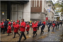 TQ3281 : View of people in the Lord Mayor's Parade from Gresham Street #14 by Robert Lamb