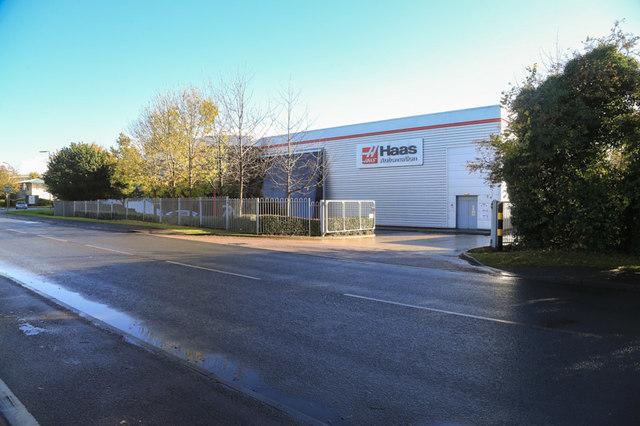 European base for the American Haas F1 team