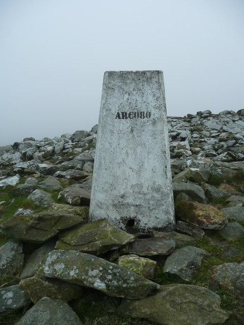 Close view of the triangulation pillar on Foeldrygarn