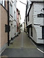 SX2553 : Middle Market Street in Looe by Richard Law