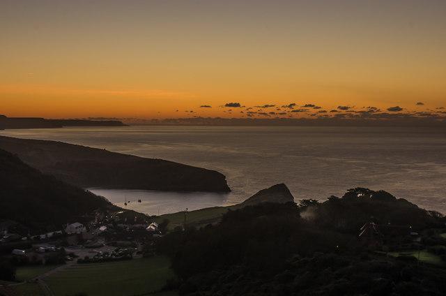 Lulworth Cove at dawn