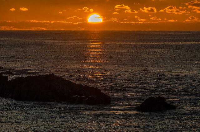 Sunrise at Man o'War Cove