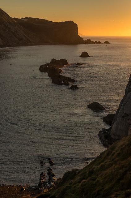 Man o'War Cove soon after sunrise