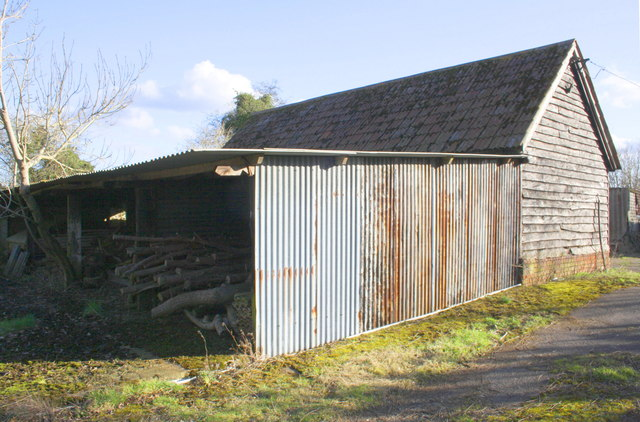 Barn and log shed at Edneys Hill Farm