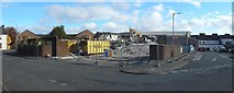 NS3980 : Medical Centre in Bank Street being demolished by Lairich Rig