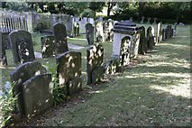 SP5206 : Headstones in a row by Bill Nicholls