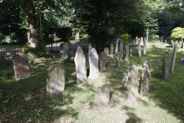 Churchyard near the tower