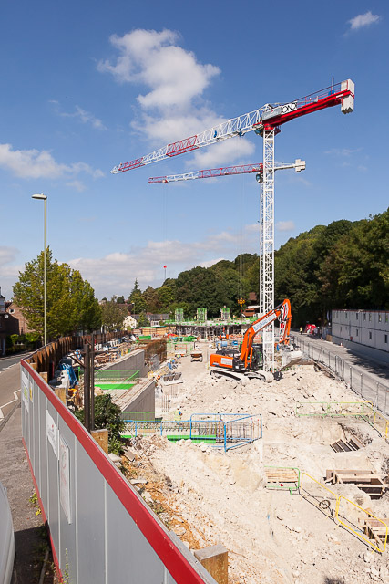 Building work on former car park in Chesil Street