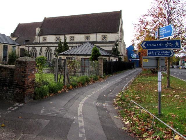 Turn left here for Tredworth, Gloucester