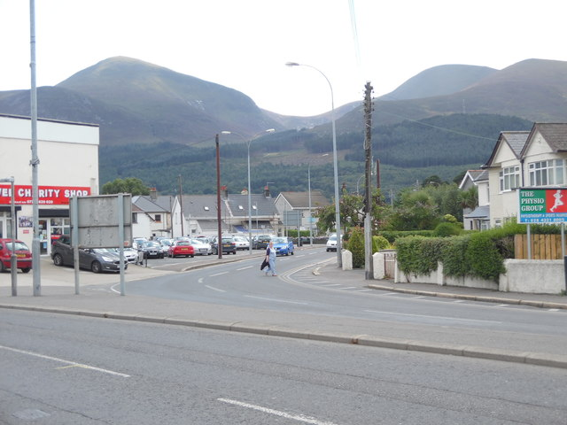 View towards the Mourne Mountains from Newcastle, Co Down