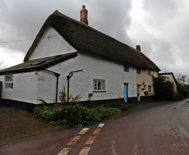 Thatched cottages at Whitnage