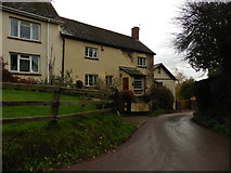 ST0215 : Cottages on Whitnage Road by Roger Cornfoot