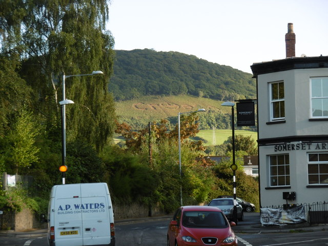 Views to the hills within Abergavenny