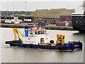 O1834 : River Liffey, Dredger at Dublin Harbour by David Dixon