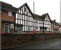 SO9063 : Black and white houses on a brick base, The Holloway, Droitwich by Jaggery