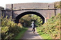 SJ2581 : The Wirral Way at Delavor Road Bridge by Jeff Buck