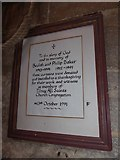 TF5617 : Tilney All Saints Parish Church: memorial (2) by Basher Eyre