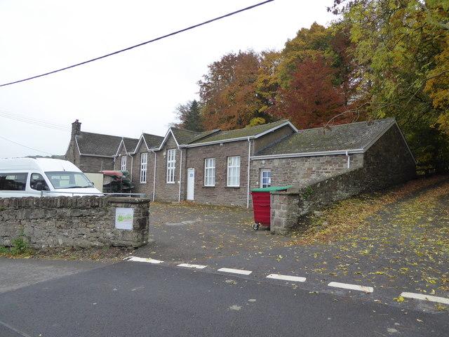 An old school building in Govilon