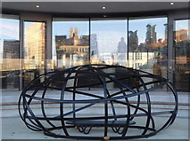 TQ3078 : Sculpture and reflections, Vauxhall by pam fray