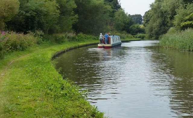 Narrowboat on the Staffordshire and Worcestershire Canal