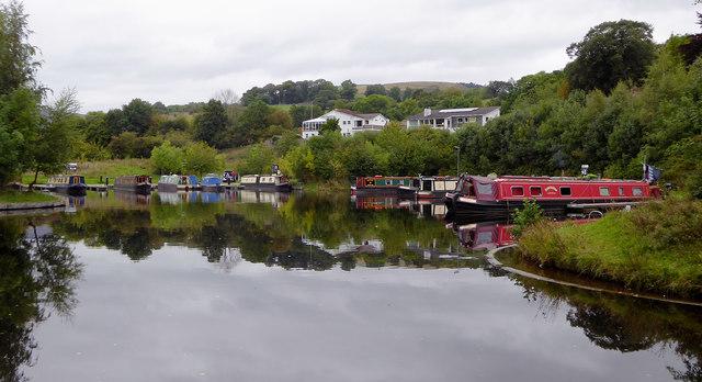 Canal marina near Llangollen in Denbighshire
