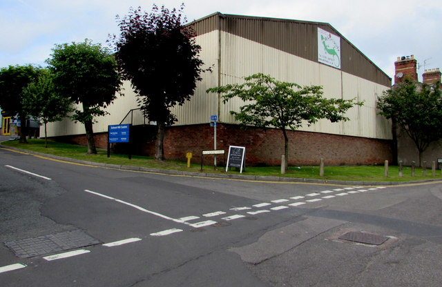 Tree-lined corner in Chepstow