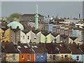 ST5971 : A mosque and colourful houses by Philip Halling