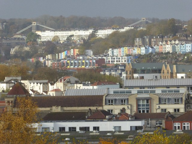 View over the city to Clifton Suspension Bridge