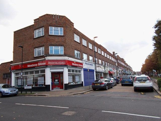 Parade of shops on Bramley Road, Oakwood