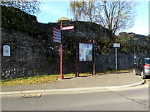 ST5393 : Part of the medieval Port Wall, Chepstow by Jaggery