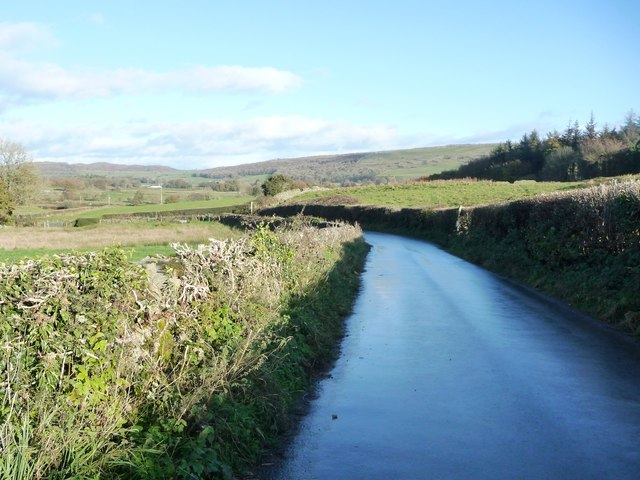 The road to Cartmel from Walton Hall