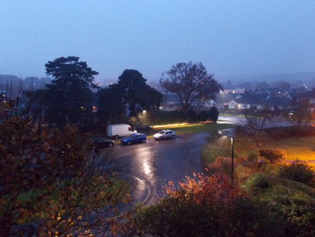 Northbourne: a downpour at dusk