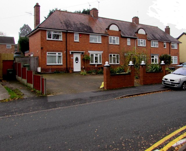 Row of three houses, Manning Road, Droitwich