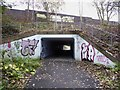 SJ8446 : Newcastle-under-Lyme: cycleway underpass under the A34 by Jonathan Hutchins