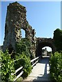 TQ6404 : Ruins of the gatehouse, Pevensey Castle by Philip Halling