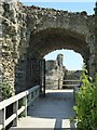 TQ6404 : Entrance to Pevensey Castle by Philip Halling