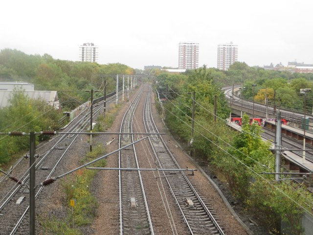 The East Coast Mainline at Byker, Newcastle upon Tyne