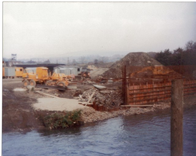 New bridge construction Aberkenfig November 1980
