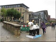 NZ2564 : Great North Snowdog Tyne Tail Jack, Quayside, Newcastle upon Tyne by Graham Robson