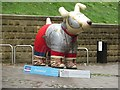 NZ2564 : Great North Snowdog Hadrian's Hound, Broad Chare, Newcastle upon Tyne by Graham Robson