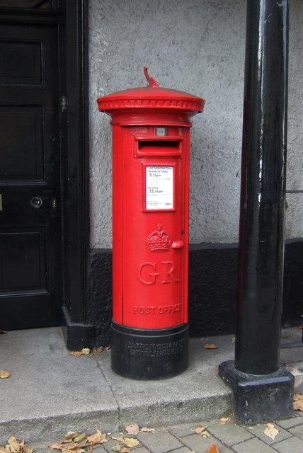 George V postbox on Kirkland, Kendal
