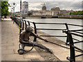 O1634 : River Liffey City Quay, The Linesman by David Dixon