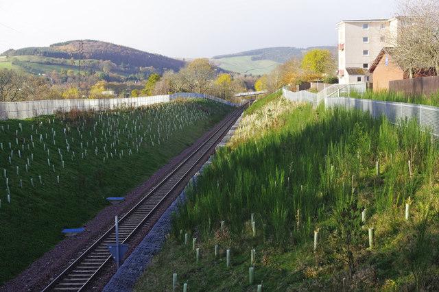 Borders Railway east of Galashiels