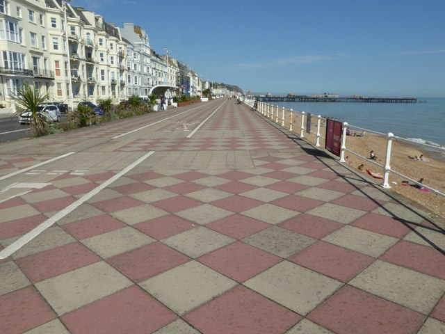 The seafront at Hastings
