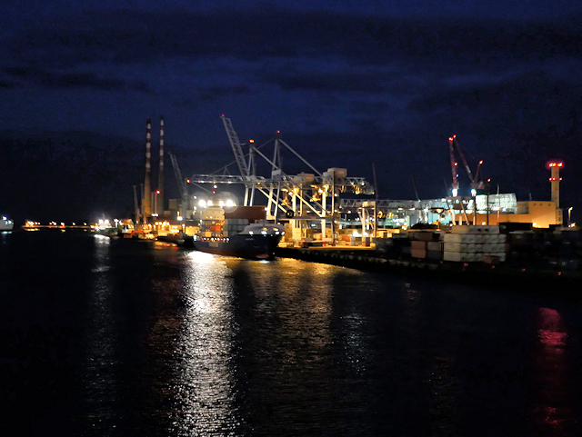 South Quays Container Terminal (night view)