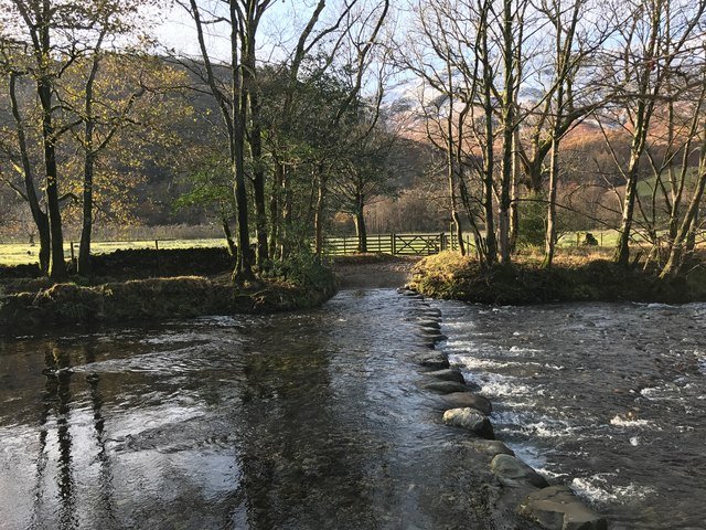 Ford and Stepping Stones at Rosthwaite