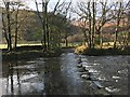 NY2514 : Ford and Stepping Stones at Rosthwaite by John Walton