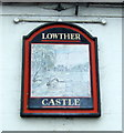 NY5423 : Faded sign on the Lowther Castle public house, Hackthorpe by JThomas